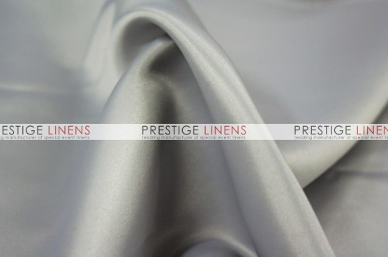 Lamour Matte Satin Chair Caps & Sleeves - 1142 Med Grey
