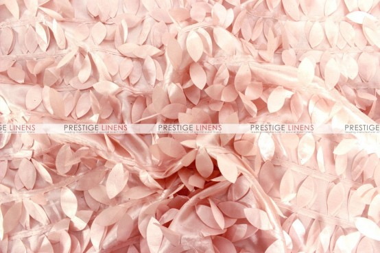 Leaf Petal Taffeta Chair Caps & Sleeves - Blush Pink