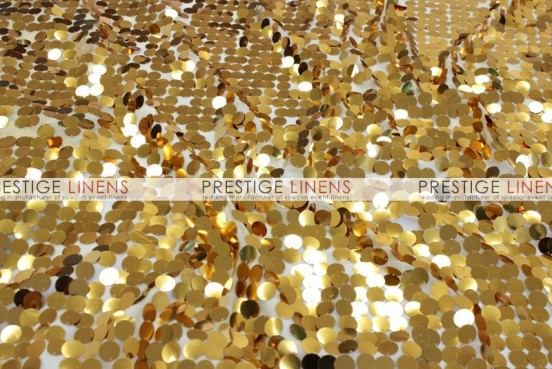 Payette Sequins (Shiny) Chair Caps & Sleeves - Gold