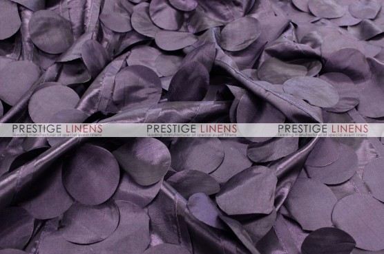 Petal Taffeta Chair Caps & Sleeves - Plum