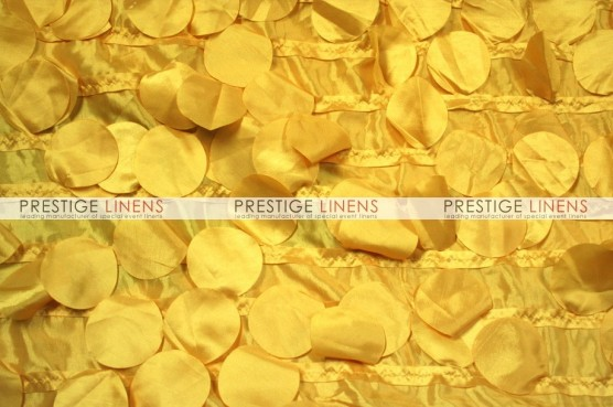 Petal Taffeta Chair Caps & Sleeves - Yellow