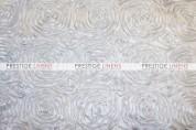 Rosette Satin Chair Caps & Sleeves - White