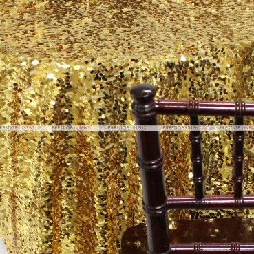 Teardrop Sequins Chair Caps & Sleeves - Gold