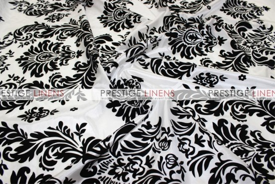 Flocking Damask Taffeta Pad Cover-Big Damask