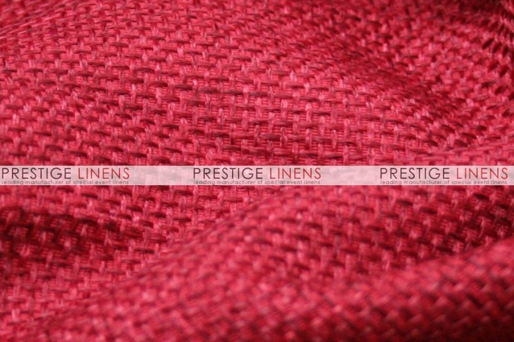 Jute Linen Pad Cover-Red