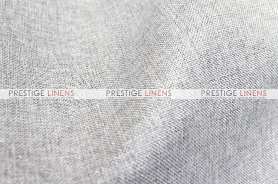 Metallic Linen Pad Cover - Platinum