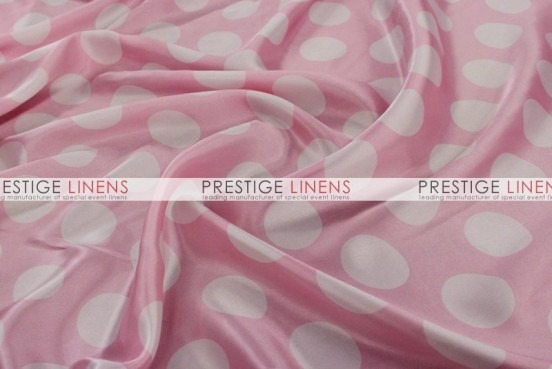 Polka Dot Print Charmeuse Pad Cover-Pink/White