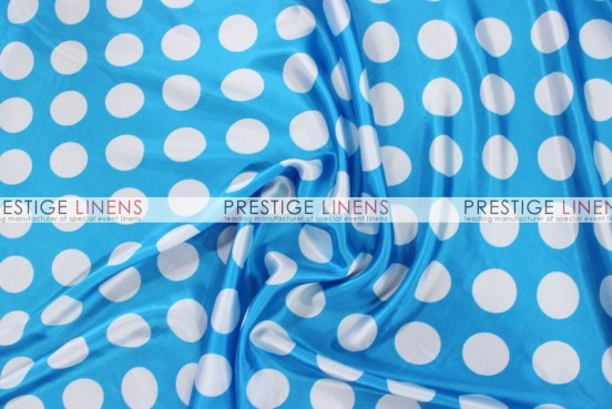 Polka Dot Print Charmeuse Pad Cover-Turquoise/White