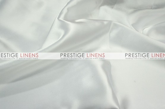 Charmeuse Satin Sash-126 White