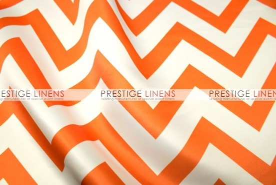 Chevron Print Lamour Sash-Orange