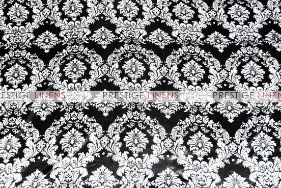 Damask Print Lamour Sash-Black/White
