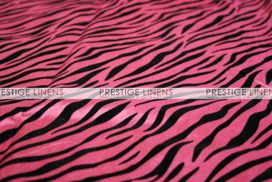 Flocking Zebra Taffeta Sash-Candy Pink