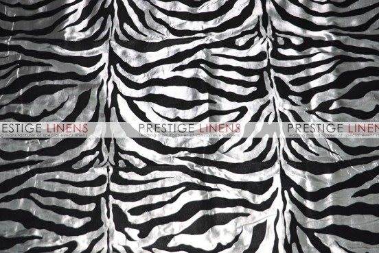 Flocking Zebra Taffeta Sash-Charcoal