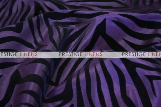 Flocking Zebra Taffeta Sash-Plum