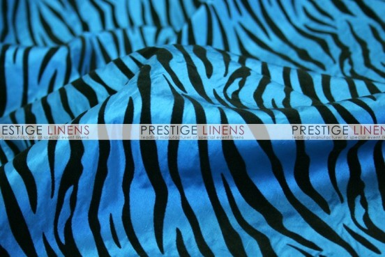 Flocking Zebra Taffeta Sash-Teal