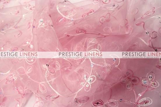 Floral Sequins Organza Sash-Lt Pink