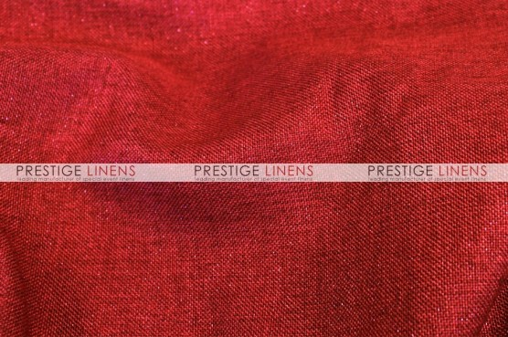 Metallic Linen Sash - Red
