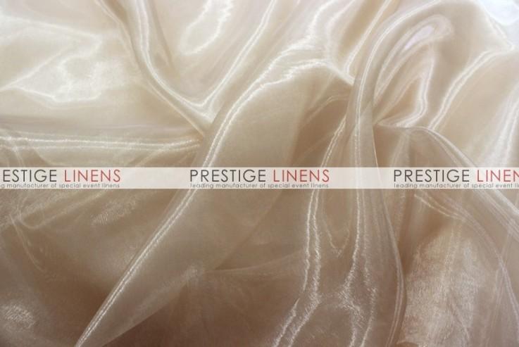 Mirror organza sash 130 champagne prestige linens - Salon prestige organza ...