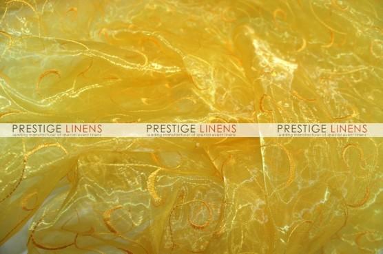 Organza Swirl Sash-426 Yellow