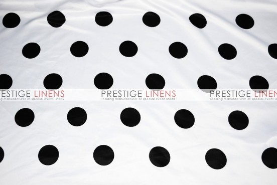 Polka Dot Print Lamour Draping - White/Black