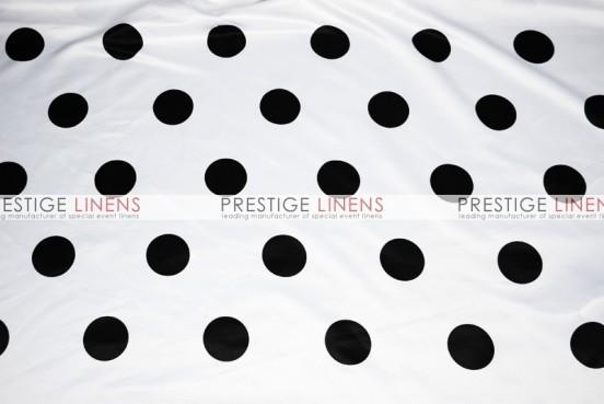 Polka Dot Print Lamour Draping - White/Black