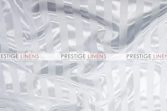Bridal Satin Stripe Napkin - White