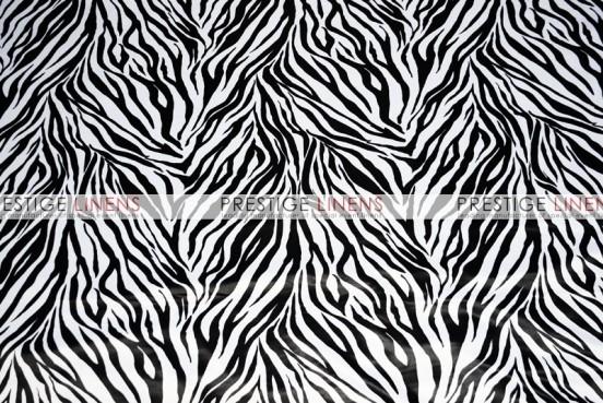 Zebra Print Lamour Napkin - White