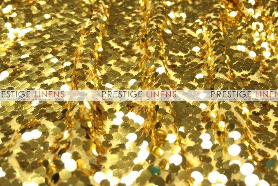 Mesh Sequins Embroidery Table Linen - Gold