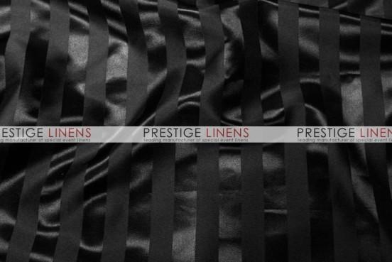 Bridal Satin Stripe Table Linen - Black