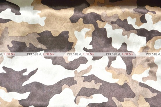 Camo Print Charmeuse Table Linen - Olive