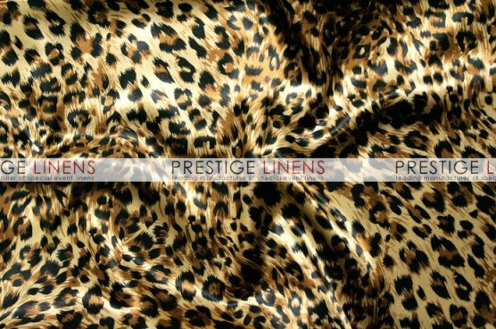 Cheetah Print Charmeuse Table Linen - Large Print