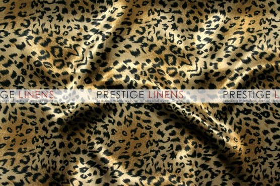 Cheetah Print Charmeuse Table Linen - Small Print
