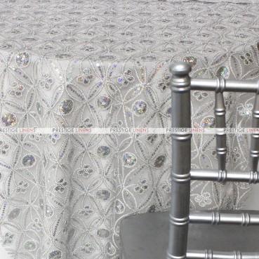 Coco Star Table Linen - Silver