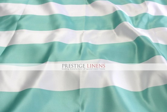 Striped Print Lamour Table Linen-3.5 Inch-Mint