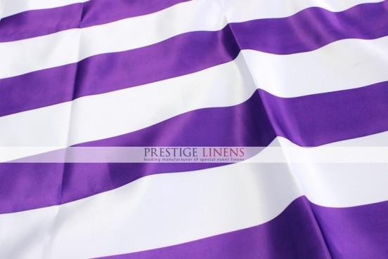 Striped Print Lamour Sash-3.5 Inch - Purple