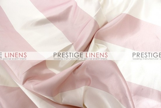 Striped Print Lamour Table Runner-3.5 Inch-Blush/Ivory