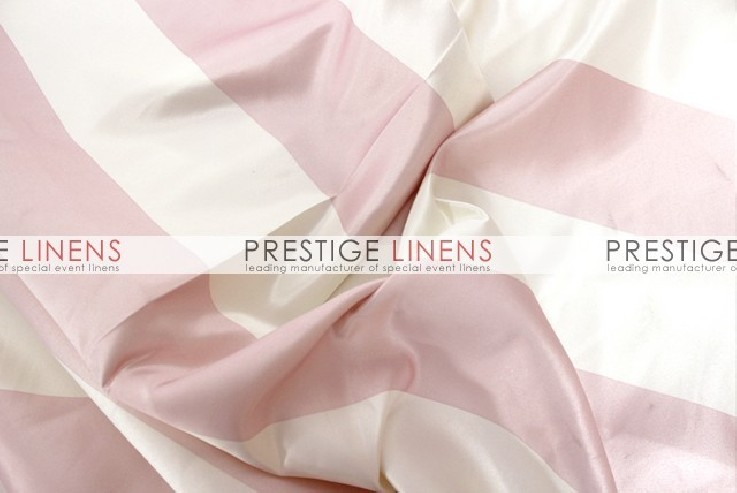 Striped Print Lamour Pad Cover-3.5 Inch - Blush/Ivory