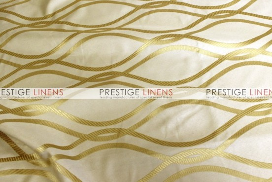 Eliptical Jacquard Table Linen - Gold