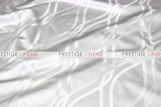 Eliptical Jacquard Table Linen - White