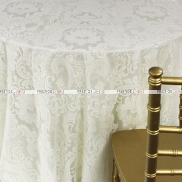 English Lace Table Linen - Ivory