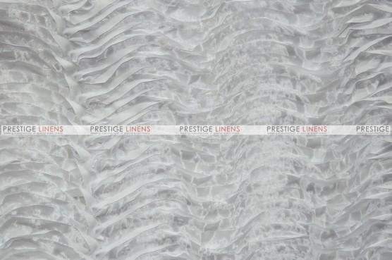 Austrian Wave Satin Draping - White