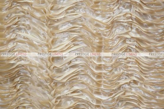 Austrian Wave Satin Table Linen - Stone