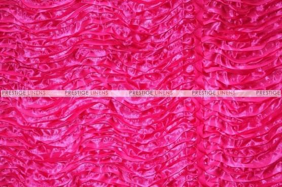 Austrian Wave Satin Chair Caps & Sleeves - Fuchsia