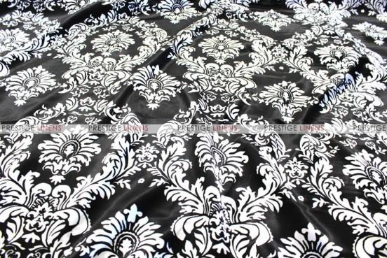 Damask Print Charmeuse Chair Cover - Black/White