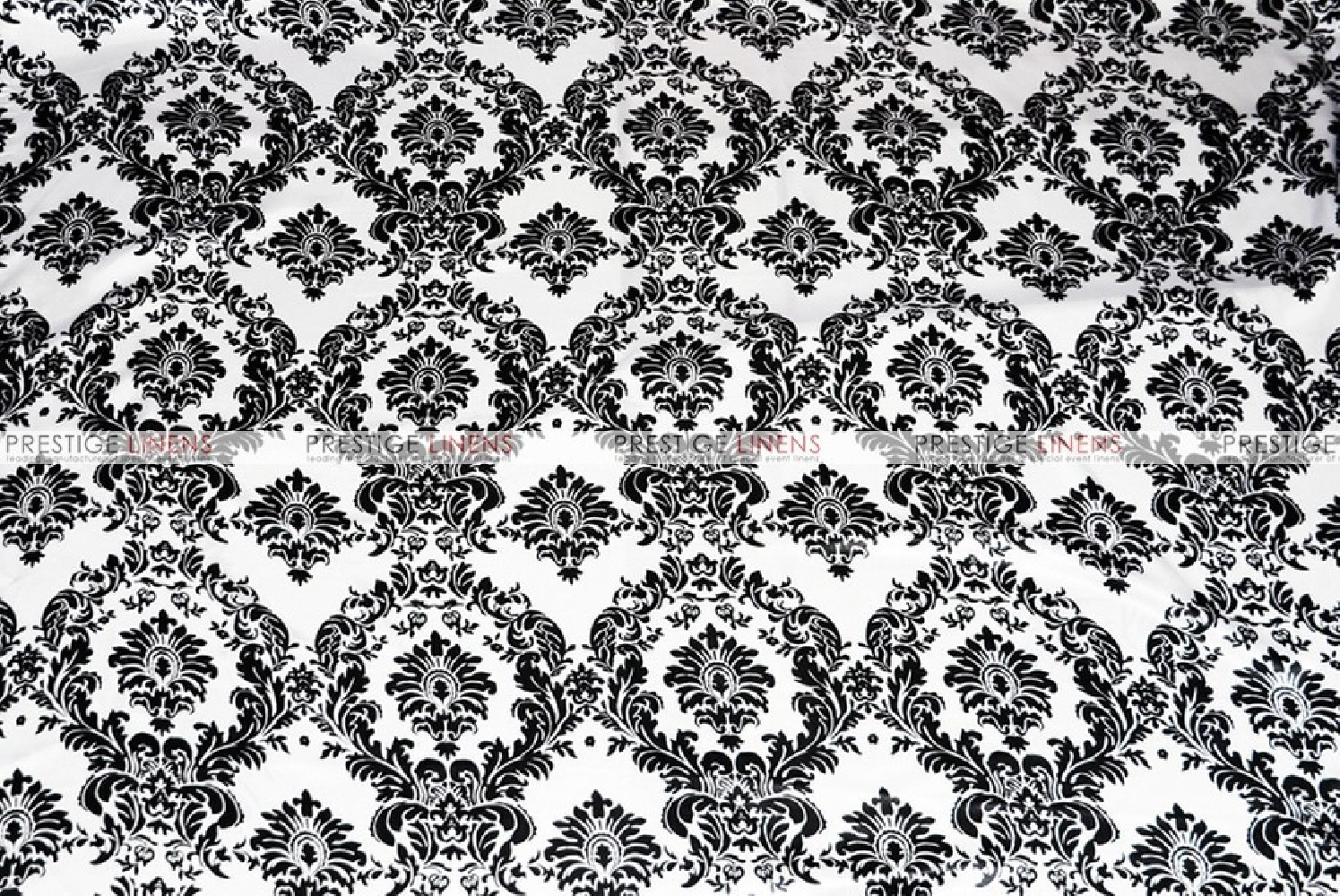 Damask Print Lamour Chair Cover White Black Prestige
