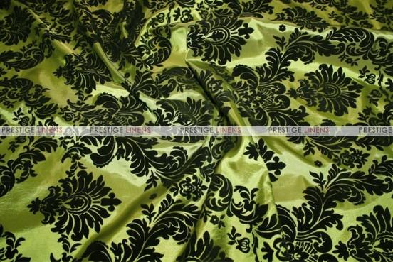Flocking Damask Taffeta Chair Cover - Dk Lime/Black