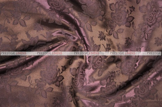 Brocade Satin Chair Cover - Brown