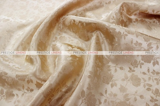 Brocade Satin Chair Cover - Champagne