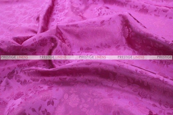 Brocade Satin Chair Cover - Fuchsia