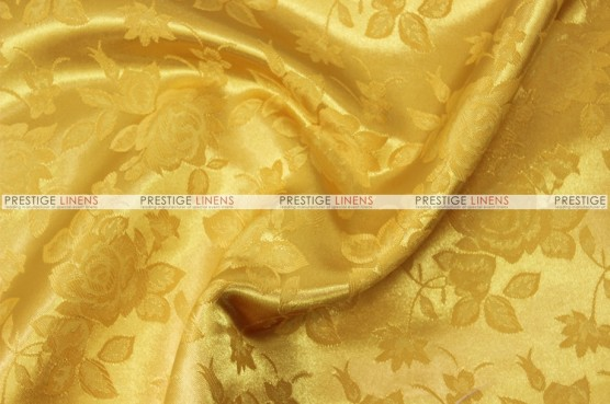 Brocade Satin Chair Cover - Yellow